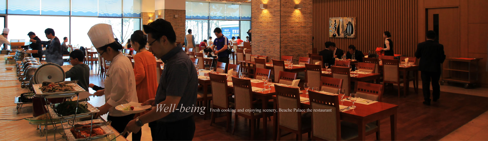 Well-being Fresh cooking and enjoying scenery, Beache Palace the restaurant